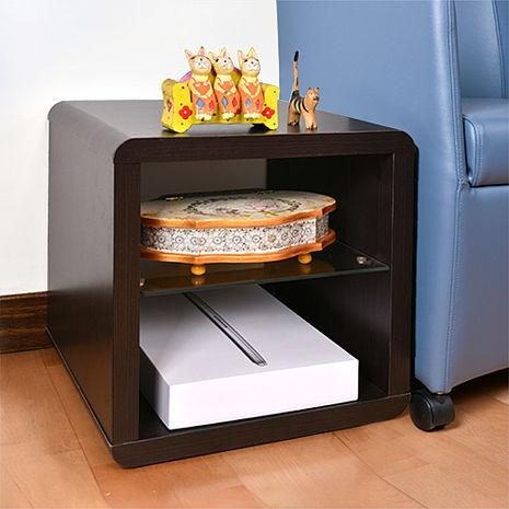 特賣↘【德萊妮】DIY極簡造型小茶几桌/邊桌/置物櫃(胡桃色)