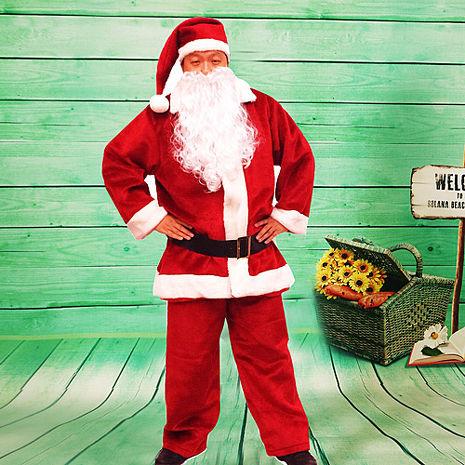 【樂活e棧】聖誕節MIT豪華加厚禦寒版-聖誕老人服裝(豪華5件套組)
