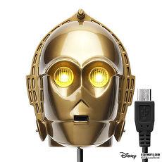 星際大戰 StarWars LED大頭充電器+MicroUSB充電線(MicroUSB專用)- C3PO