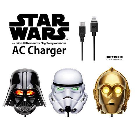 星際大戰 StarWars LED大頭充電器+MicroUSB充電線(MicroUSB專用)