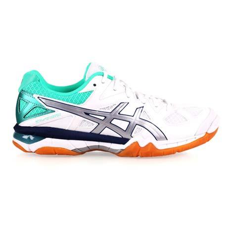 【ASICS】GEL-TACTIC 女排羽球鞋-羽毛球 排球 亞瑟士 白綠銀