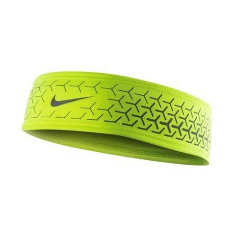 【NIKE】DRI-FIT 360反光頭帶 2.0-慢跑 路跑 瑜珈 螢光黃銀