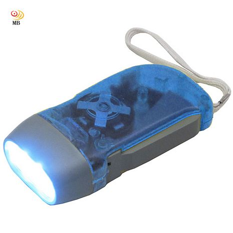 月陽3LED壓就亮蓄電式運動環保手電筒手壓手電筒(9V88)