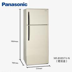 原廠送好禮★節能補助2千【Panasonic.國際牌】579L變頻雙門電冰箱/琥珀金(NR-B585TV)