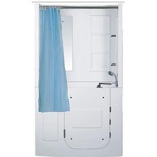 【海夫健康生活館】開門式浴缸 108B-T 恆溫水柱按摩款 (110*68*205cm)