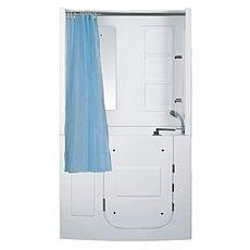 【海夫健康生活館】開門式浴缸 109B-T 恆溫水柱按摩款 (120*68*205cm)