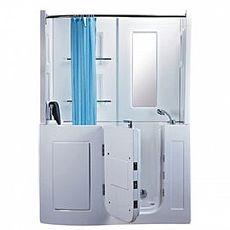 【海夫健康生活館】開門式浴缸 106B-R 氣泡按摩款 (152*81*208cm)