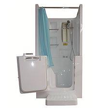 【海夫健康生活館】開門式浴缸102B-T 恆溫水柱按摩款 (100*78*205cm)