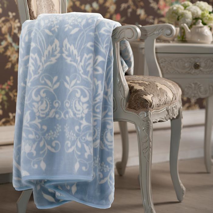 BBL Premium 藍茵花漾100%Polyester印花暖纖法蘭絨毯