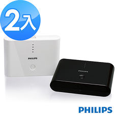 PHILIPS 10400mAh 3.1A 雙輸出行動電源(黑/白)-2入組