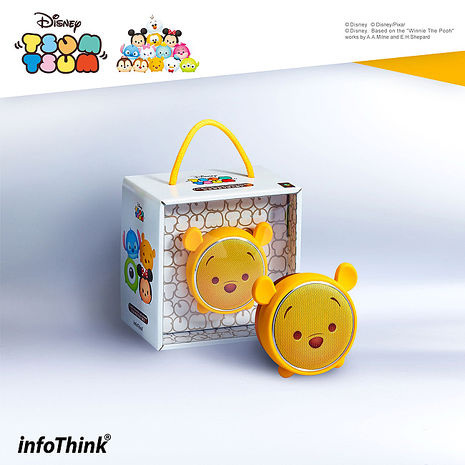 TSUM TSUM玩音樂藍牙燈光喇叭-小熊維尼 Pooh