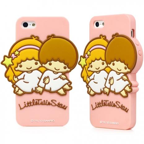 GARMMA KiKiLaLa for iPhone 5/5s/SE 立體造型果凍套 - 經典粉
