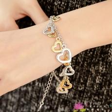手鍊  合金鍍K金 合金鍍白金 滿滿的愛  幸福洋溢款  手鍊  微醺。禮物