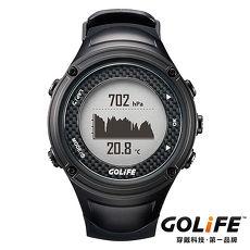 GOLiFE GoWatch X-PRO 全方位智慧戶外運動GPS腕錶(by PAPAGO)-黑色★下殺送跑衣&腿套★