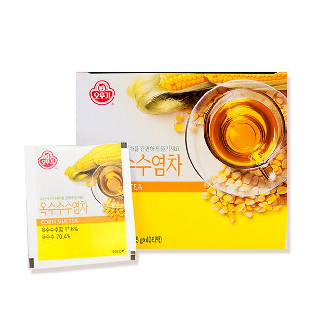 『韓璧食府』 不倒翁  韓式玉米鬚茶1.5gx40包-4入組(韓國原裝進口)