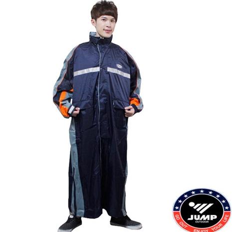 新二代【JUMP】飄彩前開式休閒風雨衣-大尺寸5XL
