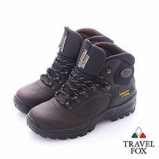 Travel Fox (男) - 風景製造機  全牛皮安全登山越野鞋 - 深咖