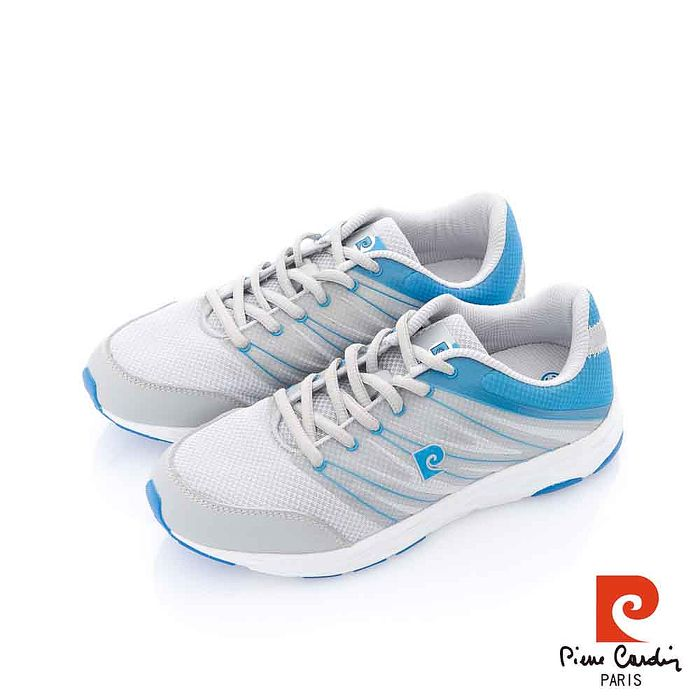 Pierre Cardin(女) - 羽毛的飛翔 輕量簡色運動慢跑鞋 - 輕藍灰
