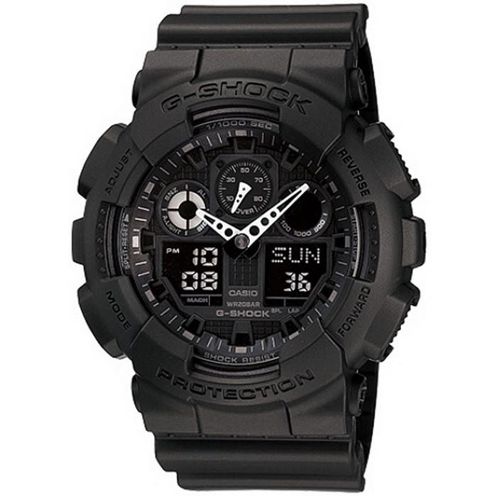 G-SHOCK 重型機械感酷炫黑男錶 GA-100-1A1