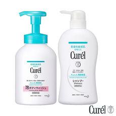 珂潤 Curel 潤浸保濕沐浴乳480ml+溫和潔淨洗髮精420ml價格