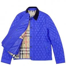 BURBERRY 英倫藍色格紋鋪棉紳士外套-XL