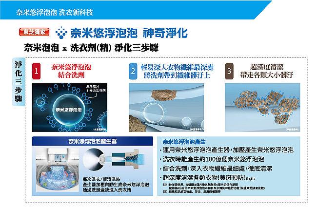 TOSHIBA東芝15公斤奈米悠浮泡泡+SDD超變頻直驅馬達 洗衣機 AW-DUJ15WAG