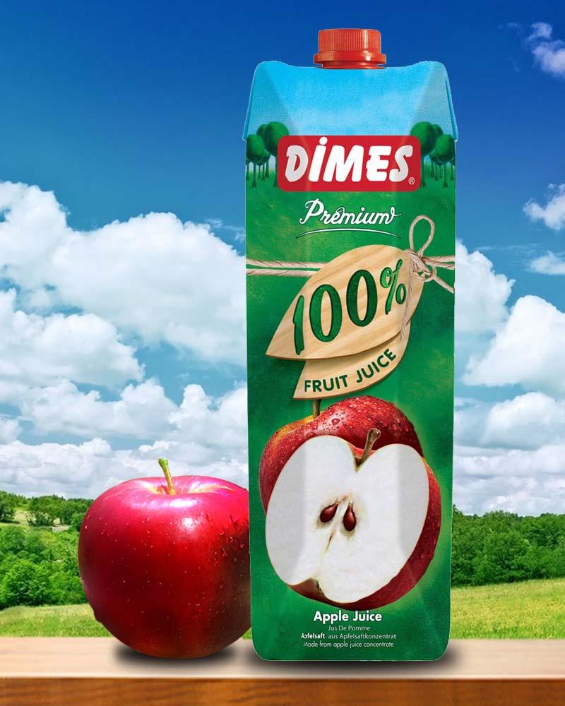 Dimes地美100%蘋果汁(1000ml x 6入)