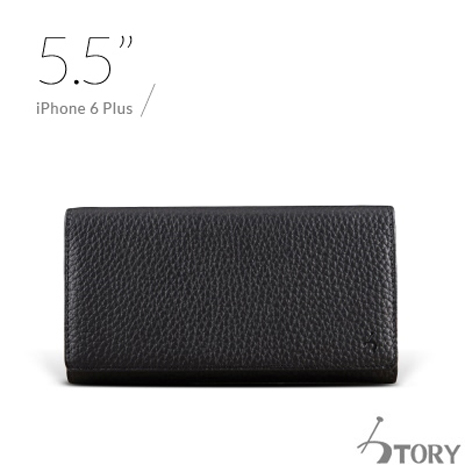 STORY皮套王 APPLE iPhone 6 Plus / 6S Plus 5.5吋 橫式腰掛 荔枝紋黑現貨皮套 05153-109