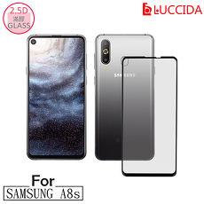 LUCCIDA Samsung A8s 9H防爆玻璃貼【2.5D滿版】