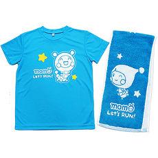 【MOMO】momo運動T恤+ momo運動毛巾衣服粉-YS/毛巾粉