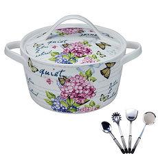 【買一送一】妙廚師花語造型瓷鍋3.2L+送御廚寶大師4件組
