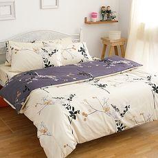 【eyah】100%精梳純棉雙人被套床包四件組-奢華名媛