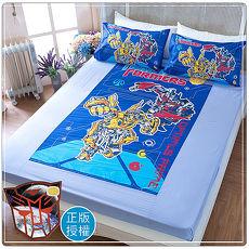 【卡通正版寢具】雙人床包被套四件組-變形金剛