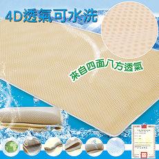 【蒙娜丽莎】台湾制4D超透气专利止滑可水洗速干床垫-5尺双人