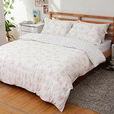 【eyah宜雅】100%天然竹語天絲雙人七件式舖棉床罩組-馨芳憐夢