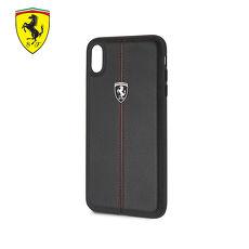 Ferrari iPhone XS MAX / XR 法拉利真皮直紋縫線背蓋(黑色)