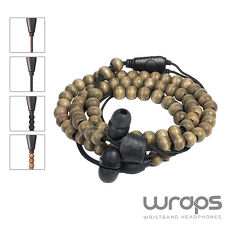 【Wraps】Natural Wristband Headphone? Ebony 時尚自然系手環耳機皮革咖