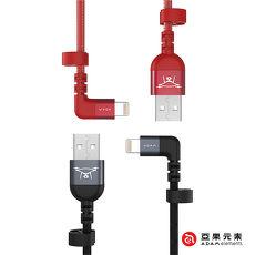【亞果元素】PeAK II FLEET L30B Lightning to USB 90度L型金屬編織充電傳輸線 30公分