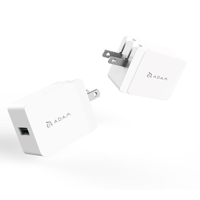 【亞果元素】OMNIA P1 18W 旅行 QC3.0 快速充電器 美規黑色