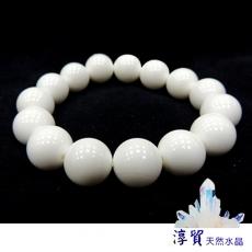 淳貿天然水晶 天然硨磲手珠14mm(B01-07)