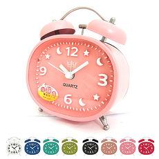 無敵王 糖果色立體數字雙鈴鬧鐘SV-1324粉藍