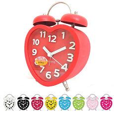 無敵王 糖果色立體數字雙鈴心型鬧鐘SV-1328粉紅