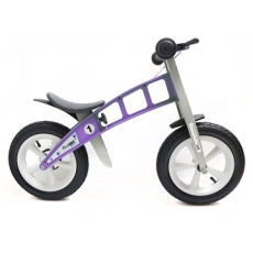 【FirstBike】德國高品質設計 寓教於樂-兒童滑步車/學步車(街頭薰衣草紫)