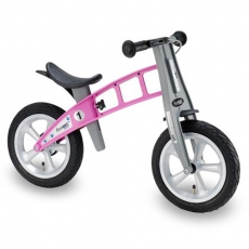 【FirstBike】德國設計 寓教於樂-兒童滑步車/學步車(亮麗粉)