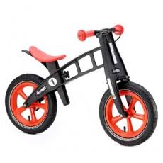 【FIRSTBIKE 】 寓教於樂-兒童滑步車/學步車-黑金鋼橘紅
