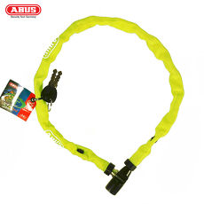 ABUS 德國防盜鎖 1500 web Key Chain 60cm單車鑰匙鎖-螢光綠