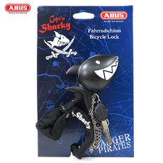 ABUS 德國防盜鎖 1510 Captn Sharky 60cm鯊魚造型鎖頭單車鑰匙鎖-黑