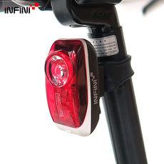 【INFINI】VISTA I-407R 紅光LED警示高亮度3模式後燈/台灣製-白色