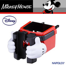 ~NAPOLEXx迪士尼~米奇冷氣孔手機杯架WD269  汽車︱收納置物︱固定架