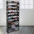 LIFECODE 可調式十層鞋架 (黑色)
